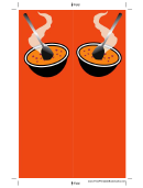 Soup Orange Bookmark
