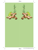 Ginger Green Bookmark