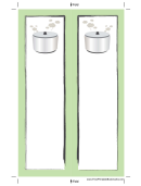 Crockpot Light Green Bookmark
