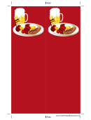 German Food Red Bookmark