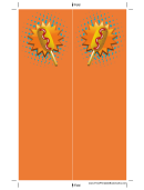 Orange Corndog Bookmark