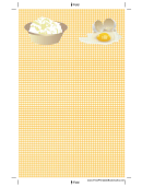 Eggs Yellow Gingham Bookmark