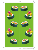 Green Sushi Bookmark