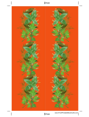 Orange Herbs Bookmark