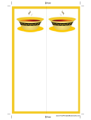 Soup Yellow Border Bookmark