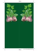 Garlic Green Bookmark
