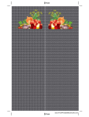 Meat Veggies Herbs Black Bookmark