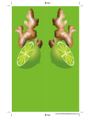 Ginger Root Green Bookmark