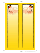 Sausages German Bookmark