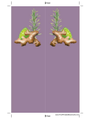 Ginger Purple Bookmark