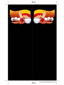 German Food Black Bookmark