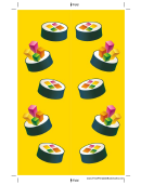 Yellow Sushi Bookmark