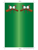 Holiday Bow Green Bookmark