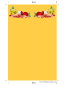 Yellow Salami Cheese Bookmark