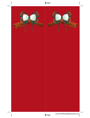 Holiday Bow Red Bookmark