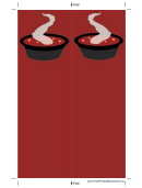 Soup Deep Red Bookmark