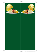German Food Green Bookmark