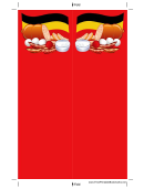 Food German Red Bookmark