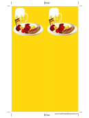 German Food Yellow Bookmark