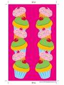 Cupcakes Pink Bookmark