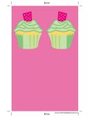 Pink Cupcake Bookmark