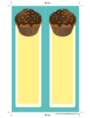 Cupcake Sprinkles Blue Bookmark