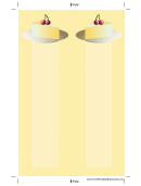 Cheesecake Cherries Yellow Bookmark