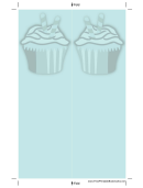 Blue Cupcake Bookmark
