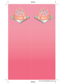 Pink Birthday Cake Bookmark