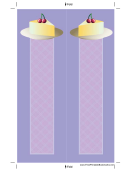 Cheesecake Cherries Purple Bookmark
