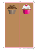 Brown Cupcakes Bookmark