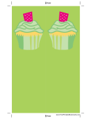 Green Cupcake Bookmark