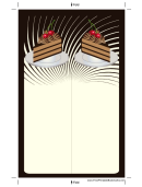 Chocolate Layer Cake Black Bookmark