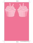 Pink Cupcake Pink Bookmark
