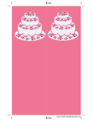 Pink Tiered Cake Bookmark