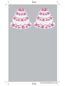 Gray Tiered Cake Bookmark