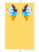 Ice Cream Cone Yellow Bookmark