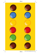 Colorful Candies Yellow Bookmark