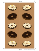 Frosted Doughnuts Brown Bookmark