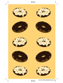 Frosted Doughnuts Yellow Bookmark