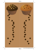 Brown Chocolate Chip Muffins Bookmark