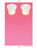 Ice Cream Sprinkles Pink Bookmark