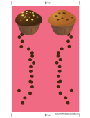 Pink Chocolate Chip Muffins Bookmark