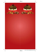 Chocolate Sundae Red Bookmark