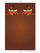 Chocolate Sundae Brown Bookmark