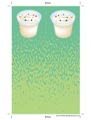 Ice Cream Sprinkles Green Bookmark