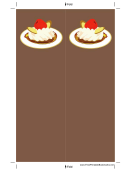 Ice Cream Nuts Cherry Brown Bookmark