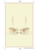 Cup White Border Bookmark