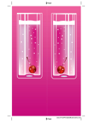 Pink Cocktail Pink Bookmark