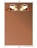 Cinnamon Coffee Brown Bookmark